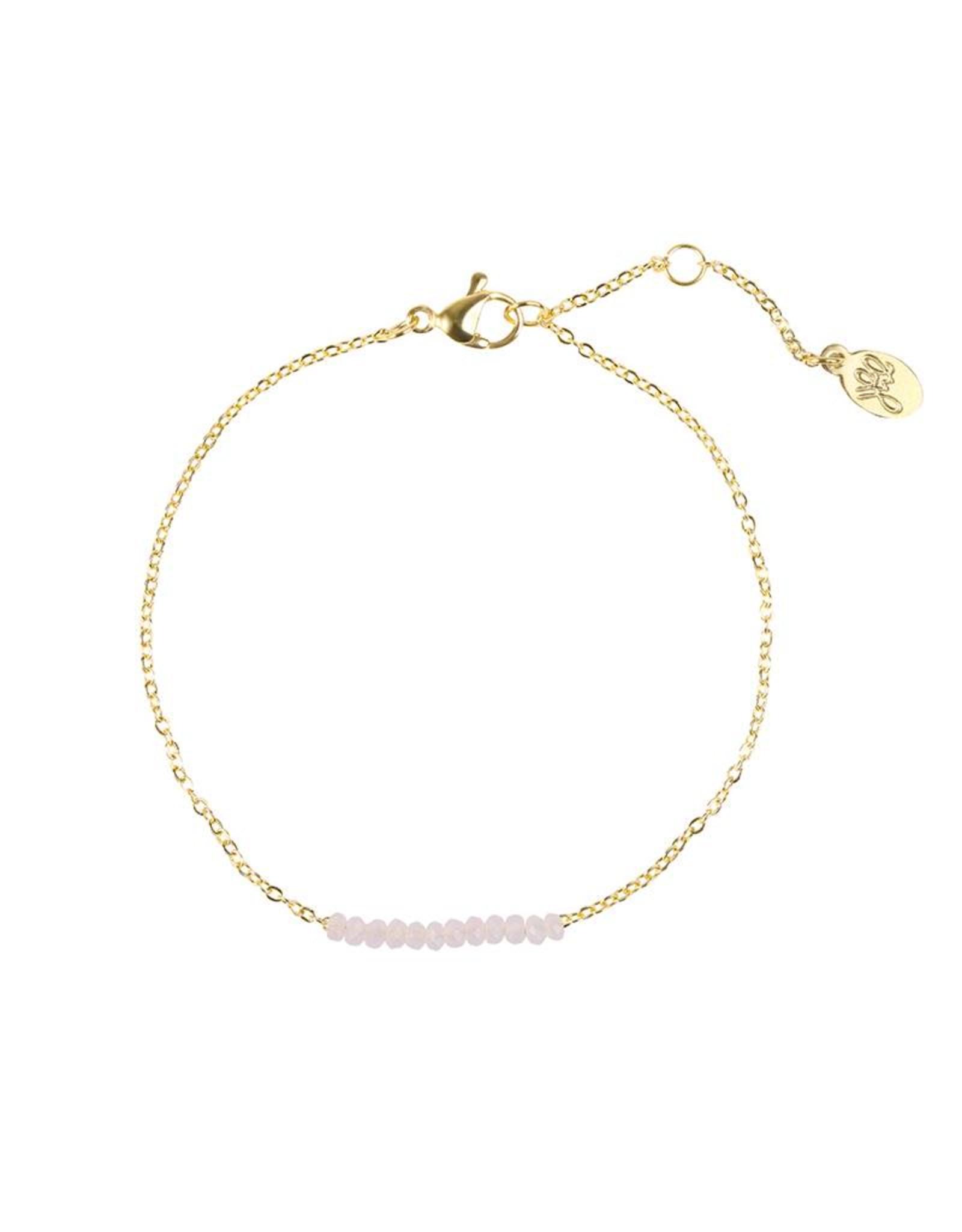 Little beads Bracelet light pink