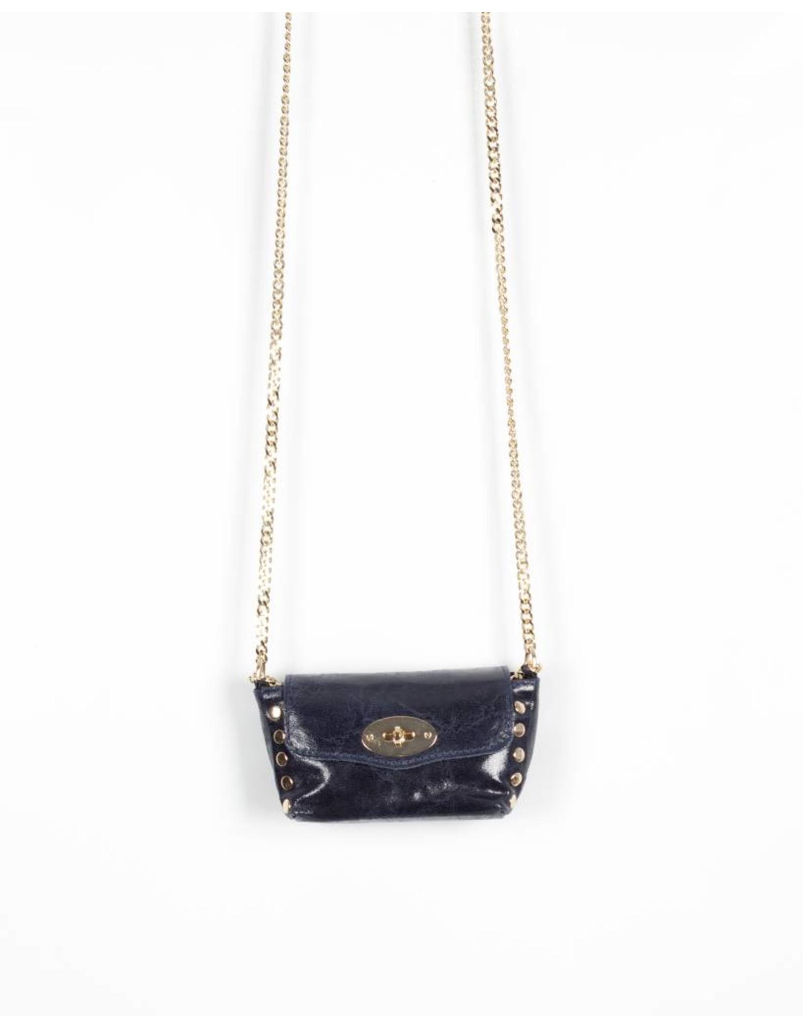 Crossbody chain bag blue