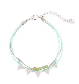 Armband triangle beads green