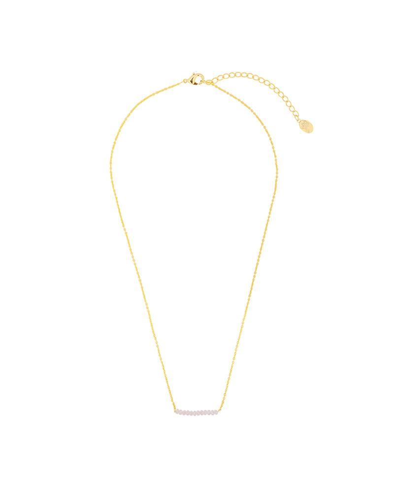 Necklace gold/roze