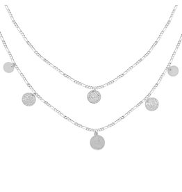 Royal Coins Necklace - Zilver