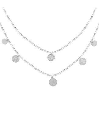 Royal Coins Necklace - Zilver