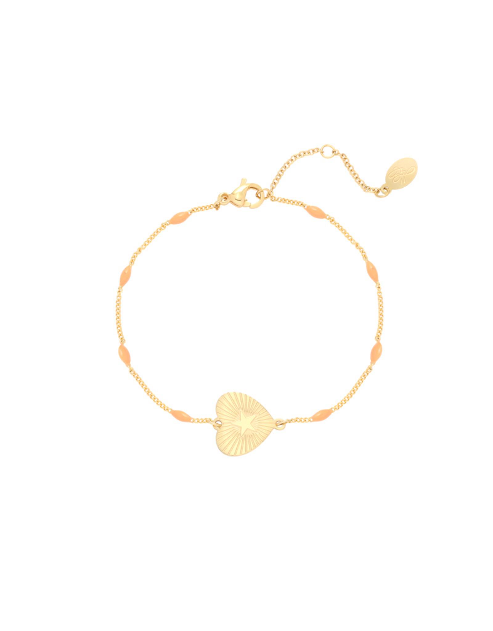 Beating Heart Bracelet Orange