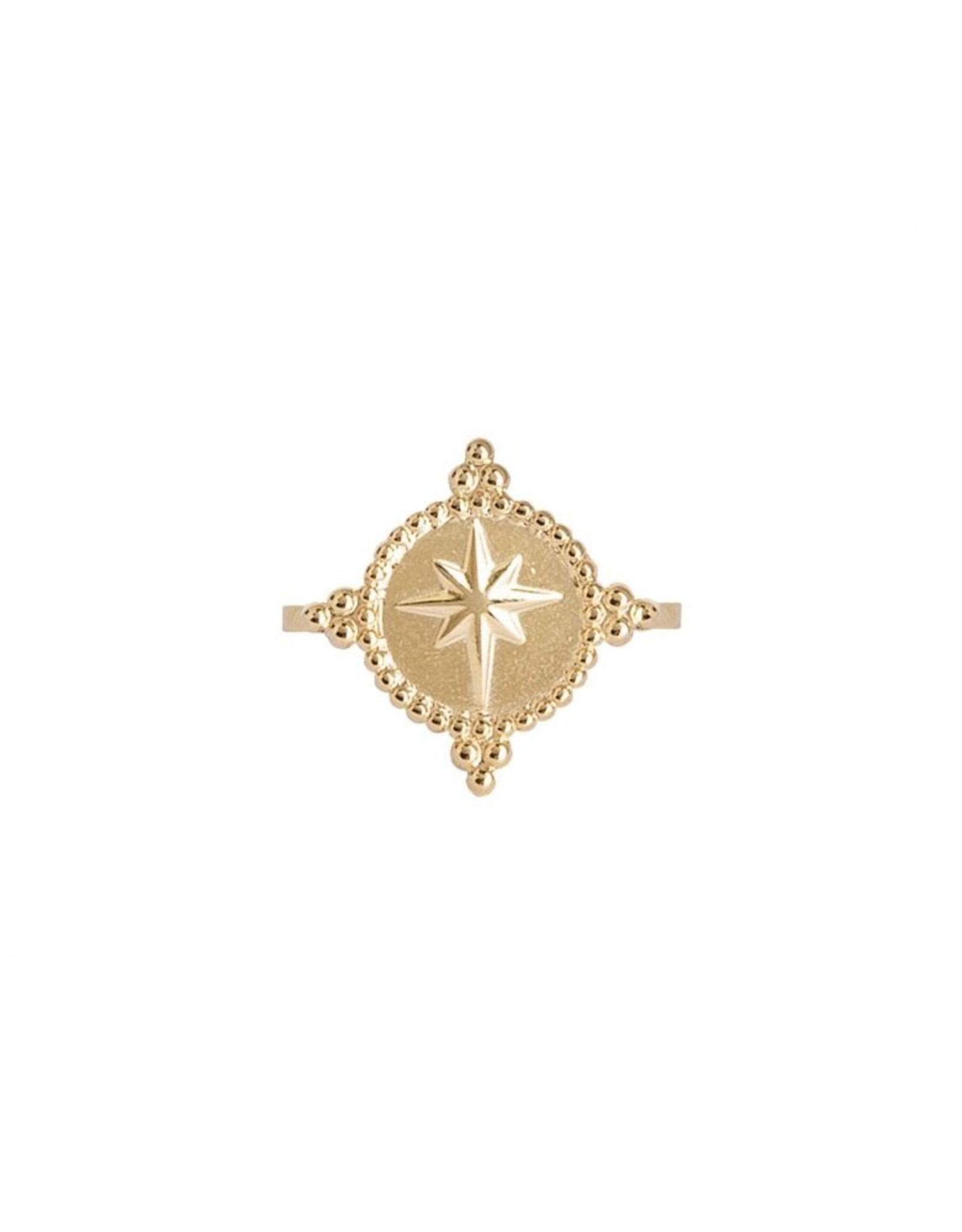 Plain  Star Ring Gold