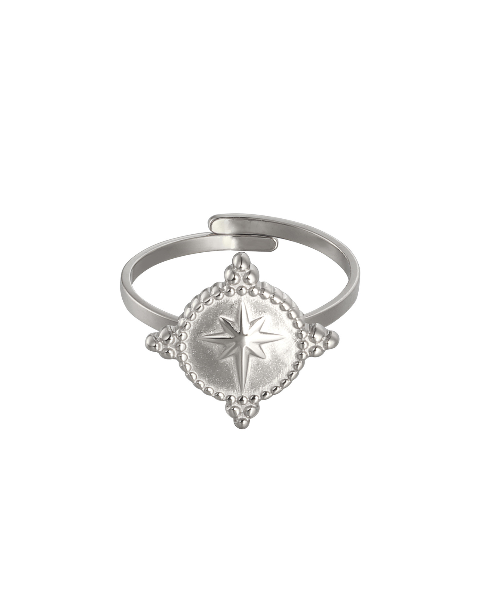 Plain  Star Ring Zilver