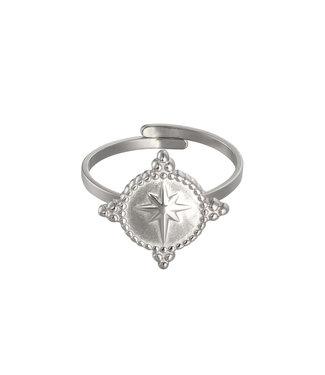 Plain Star Ring Zilver