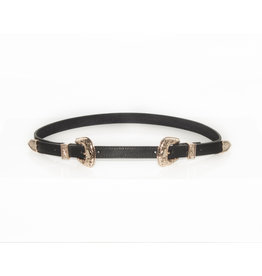 Double Buckle Belt Black/Gold