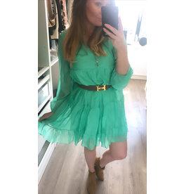 Groen zijde jurkje