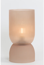 Tafellamp led  glas oud roze
