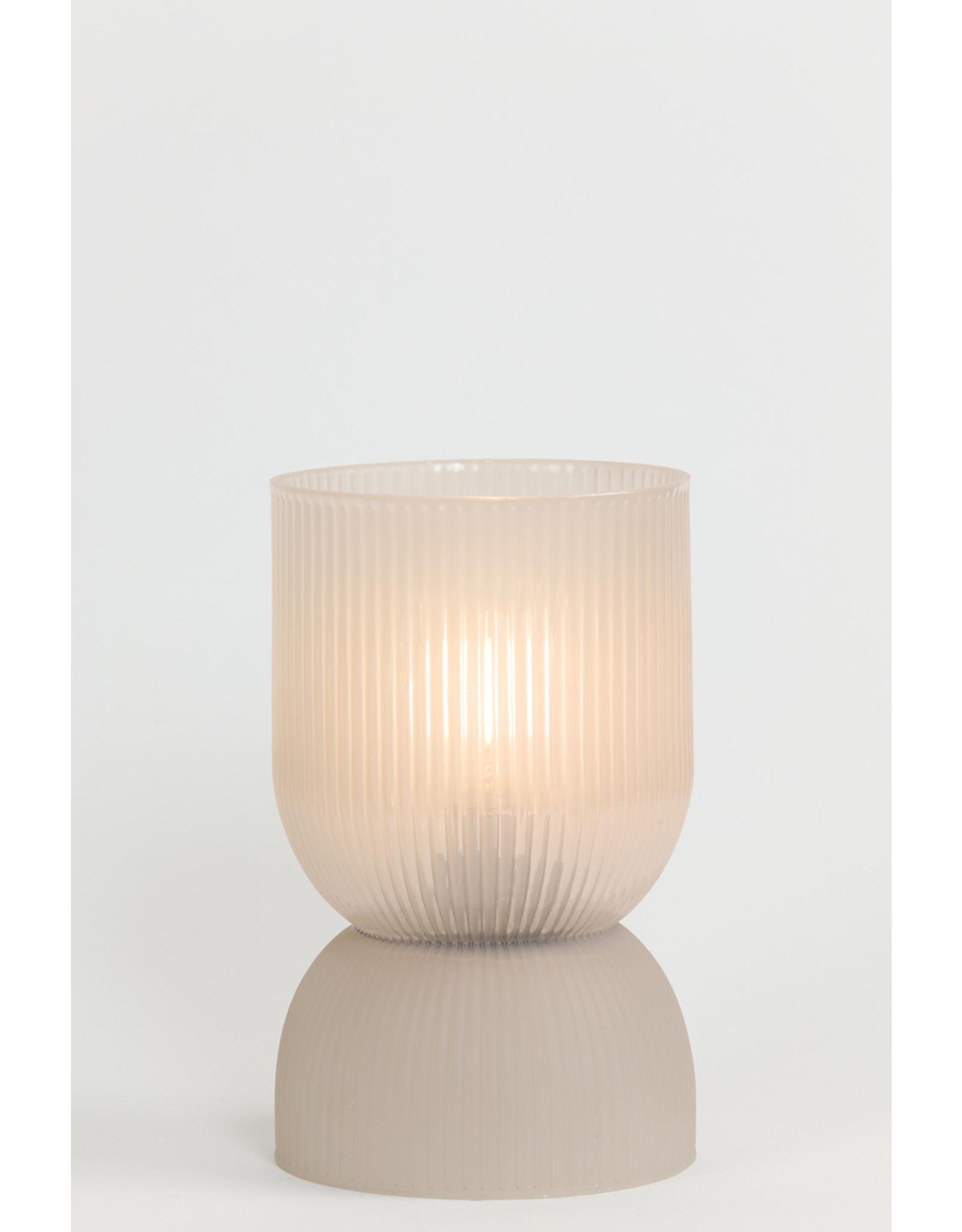Tafellamp led glas licht grijs