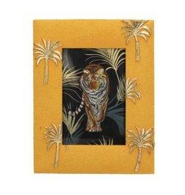 Fotolijst geel met gouden palmbomen