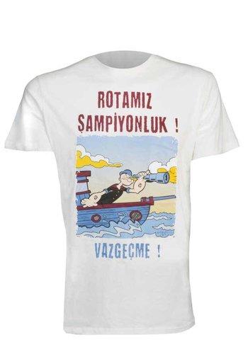 Trabzonspor T-Shirt 'Temel Reis' Beige (ROTAMIZ ŞAMPİYONLUK ! VAZGEÇME !)
