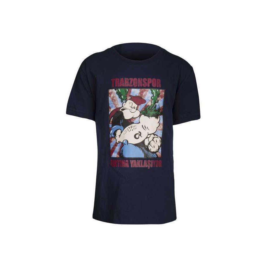 Trabzonspor Marineblauw 'Temel Reis' T-Shirt (FIRTINA YAKLAŞIYOR)