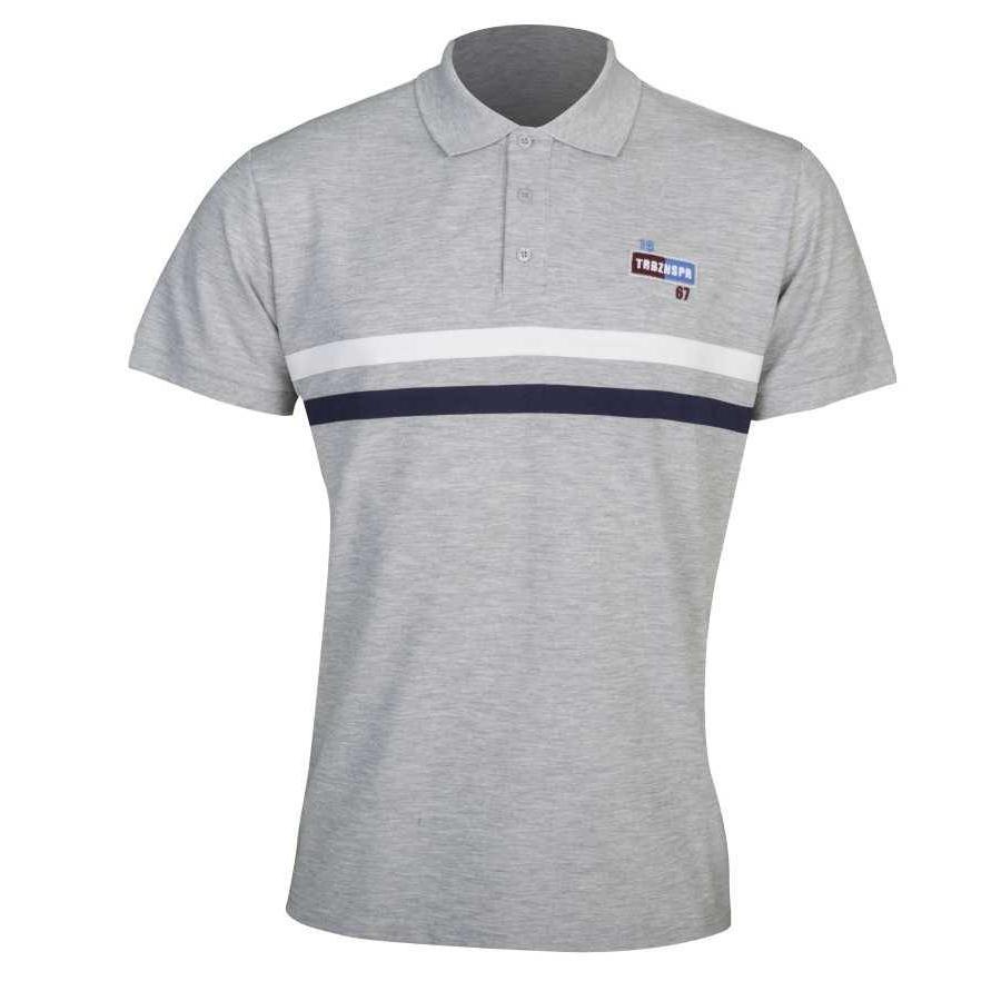 Trabzonspor Grau Melange Polo T-Shirt