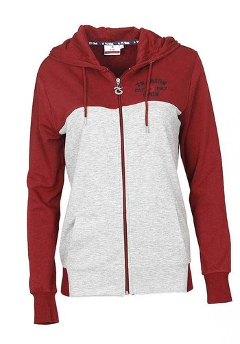 Trabzonspor Burgundy Zipper Hooded Sweater