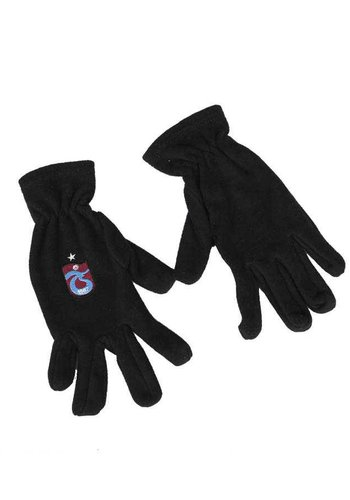 Trabzonspor Adults Black Original Logo Gloves