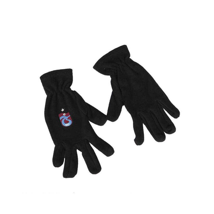 Trabzonspor Adults Black Original Logo Gloves