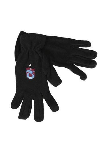 Trabzonspor Kinder Schwarz Logo Handschuhe
