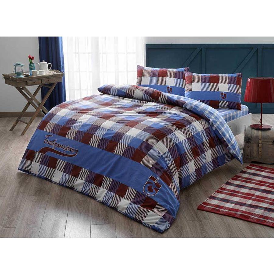 Trabzonspor Taç licensed Bed Clothes Set Double Ekose