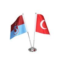 Trabzonspor Table Flag Striped Set 15*22,5 CM
