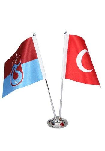Trabzonspor Gestreift Tischfahne Set 15*22,5 CM