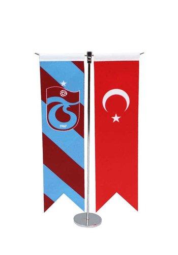 Trabzonspor Gestreept T Tafelvlag Set 8*32 CM
