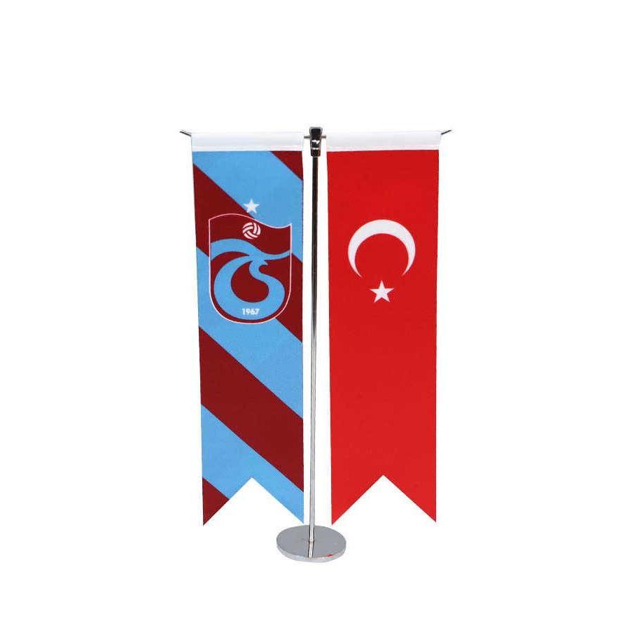 Trabzonspor Gestreift T Tischfahne Set 8*32 CM