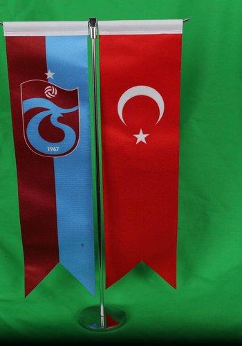 Trabzonspor T Tischfahne Set 8*32 CM