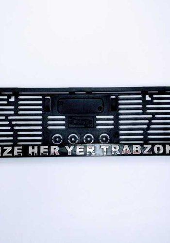 Trabzonspor Kennzeichenhalter 'Bize Her Yer Trabzon'