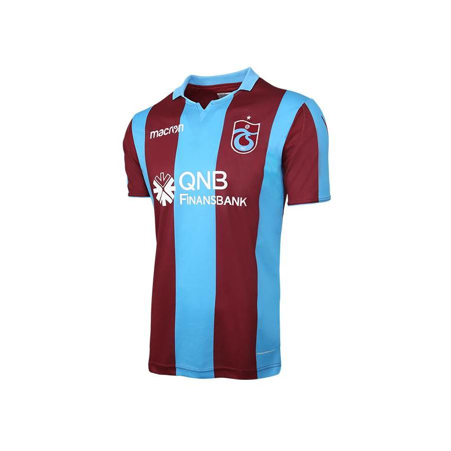 Trabzonspor 18/19 Macron Trikot Gestreift Bordeauxrot Blau