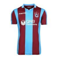 Trabzonspor Macron Kids Football Shirt Striped Burgundy Blue
