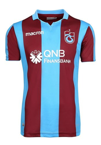 Trabzonspor Macron Kids Football Shirt Striped Burgundy Blue