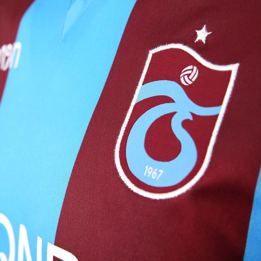 Trabzonspor Macron Gestreept Bordeaux Blauw Voetbalshirt Kinderen