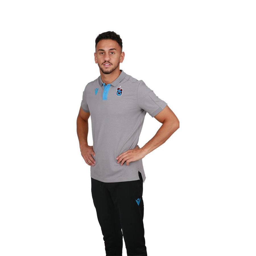 Trabzonspor Macron Training Polo T-Shirt Grau
