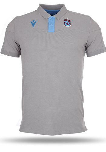 Trabzonspor Macron Training Polo T-Shirt Grey