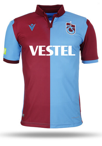 Trabzonspor Macron Shirt Burgundy Blue