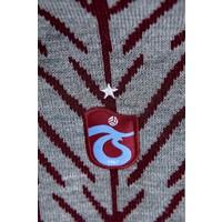Trabzonspor Set Sjaal Muts Grijs-Bordeaux