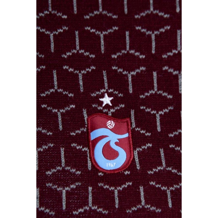 Trabzonspor Set Sjaal Muts Bordeaux-Grijs