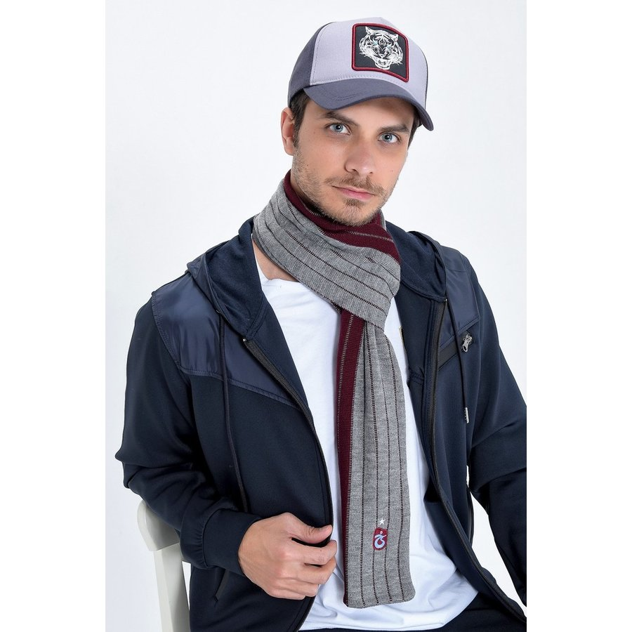 Trabzonspor Schal Bordeauxrot-Grau