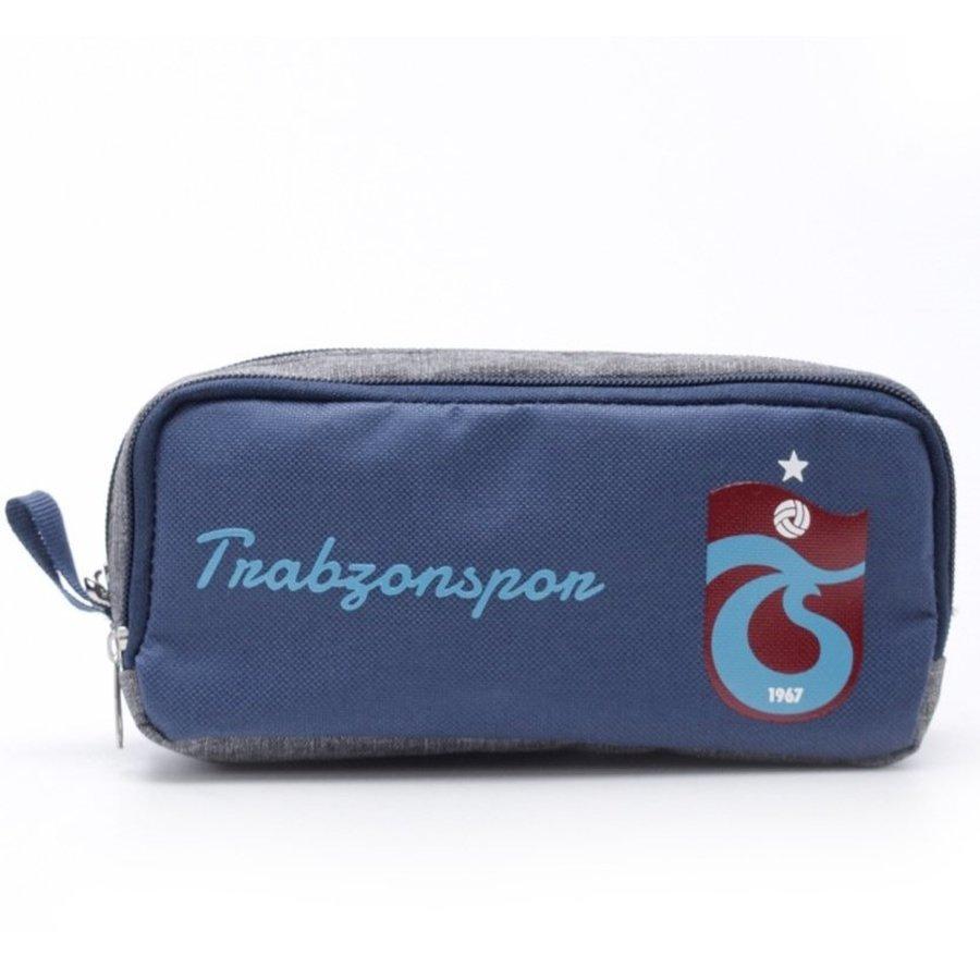 Trabzonspor Stifttasche Logo Marineblau-Grau