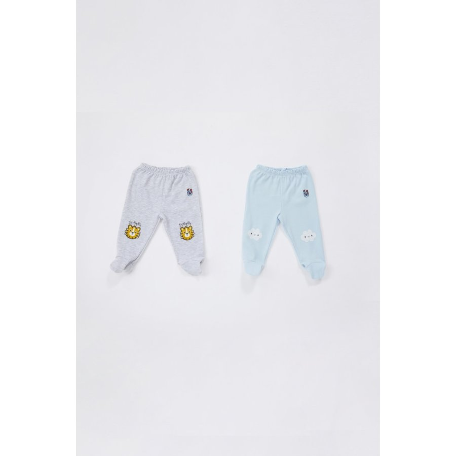 Trabzonspor Baby two-piece grey-blue training pants set