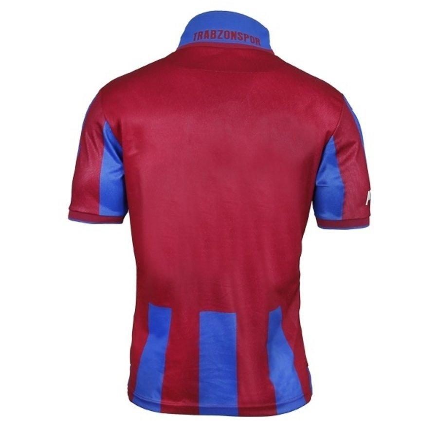 Trabzonspor Macron Shirt Kinderen Bordeaux Blauw Gestreept