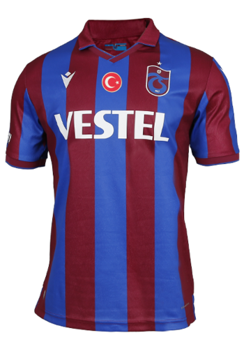 Trabzonspor Macron Shirt Burgundy Blue Striped