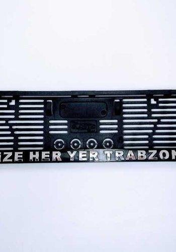 Trabzonspor License Plate Holder 'Bize Her Yer Trabzon'