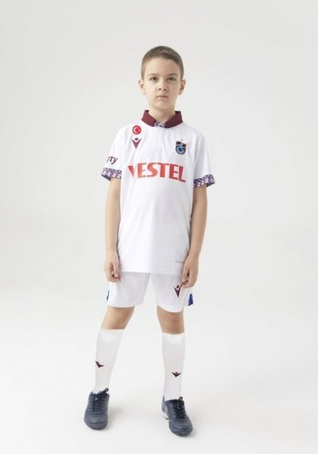 Trabzonspor Macron Shirt Kinderen Wit