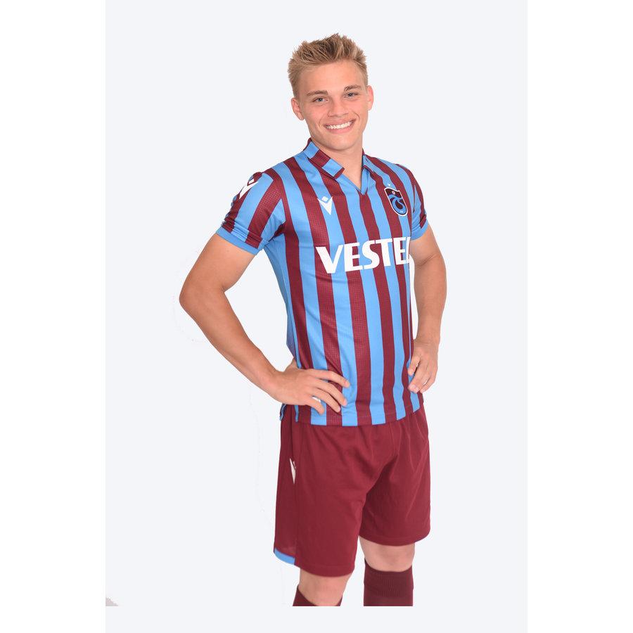 Trabzonspor Macron Shirt Burgundy Blue Striped