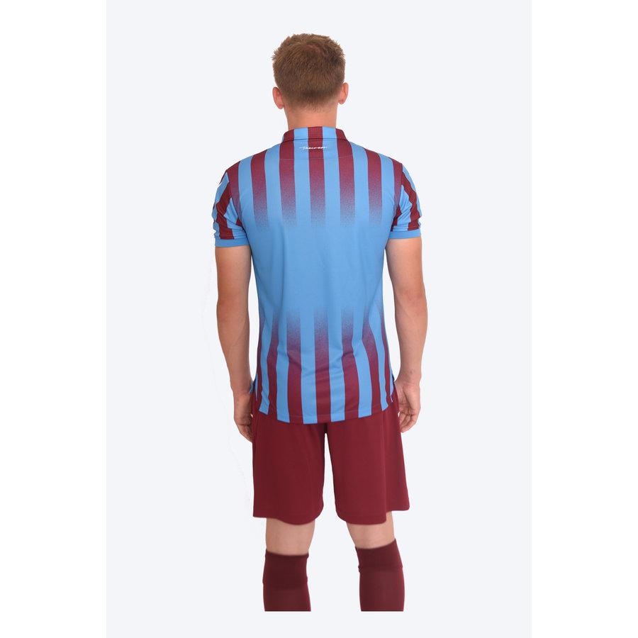Trabzonspor Macron Shirt Bordeaux Blauw Gestreept