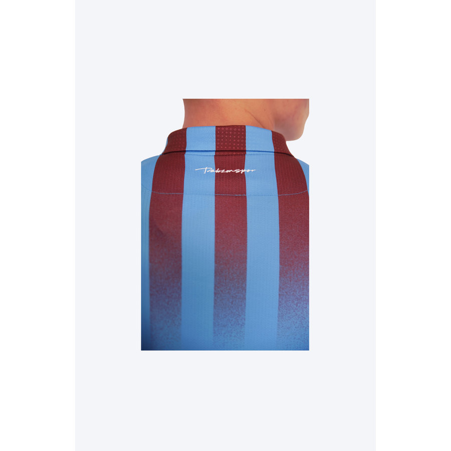 Trabzonspor Macron Maillot Bordeaux Bleu à Rayures Verticales