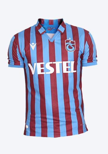 Trabzonspor Macron Kids Shirt Striped Burgundy Blue