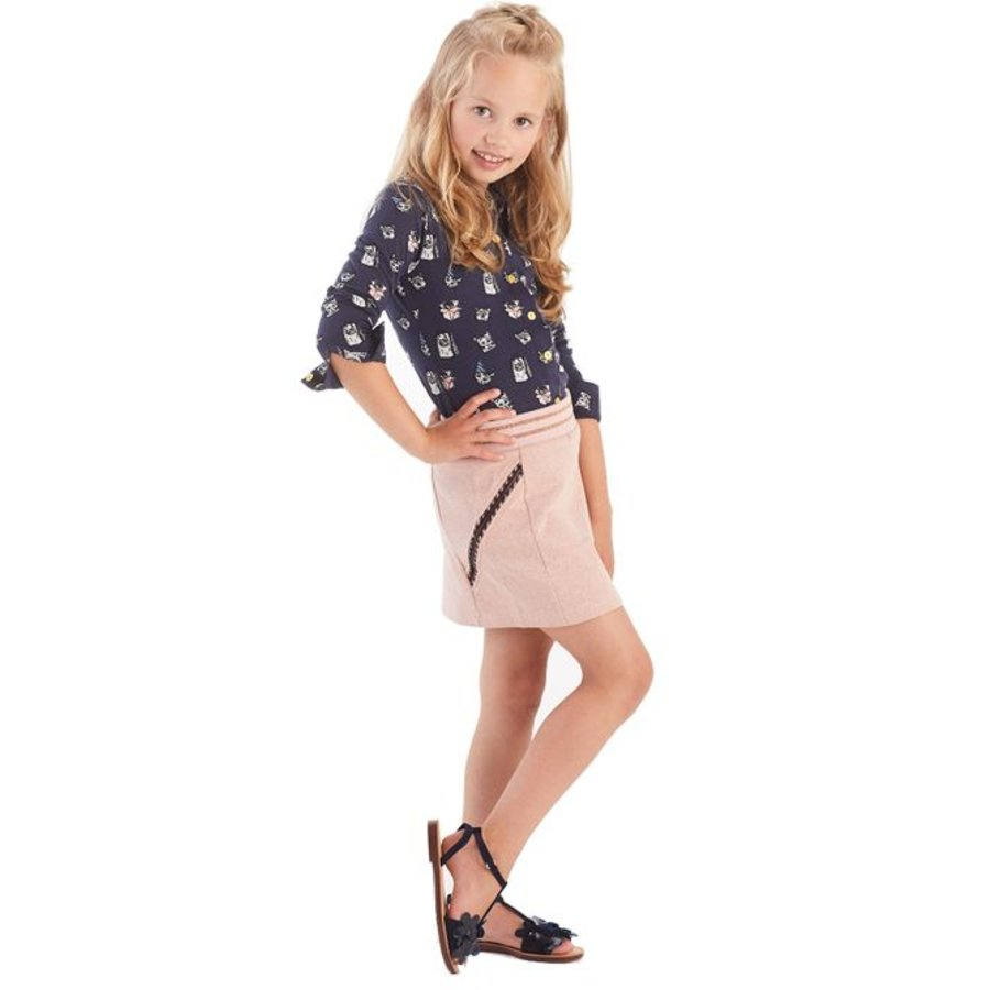 Meisjes blouse Daisy print